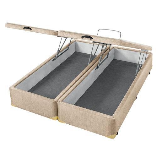 Cama Box com Baú Americanflex Bege Serrana King 193 X 203 X 40 Cm