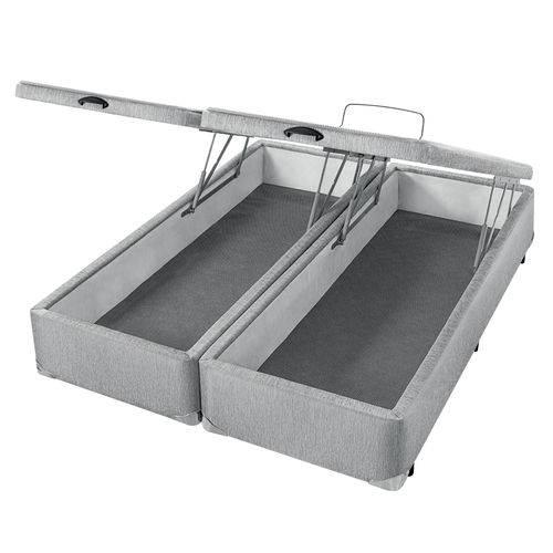 Cama Box com Baú Americanflex Cinza Serrana King 193 X 203 X 40 Cm