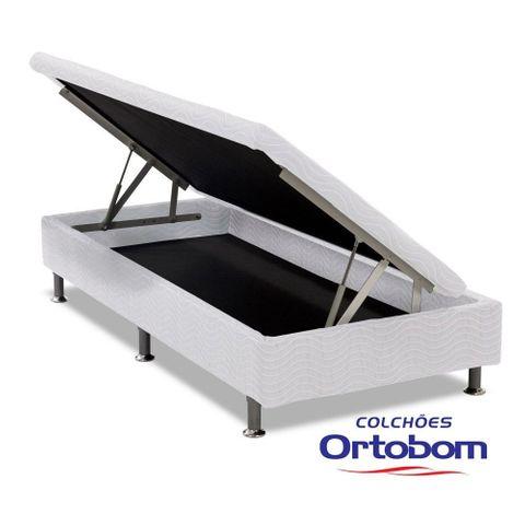 Cama Box Solteiro com Baú Physical - Branco - Ortobom