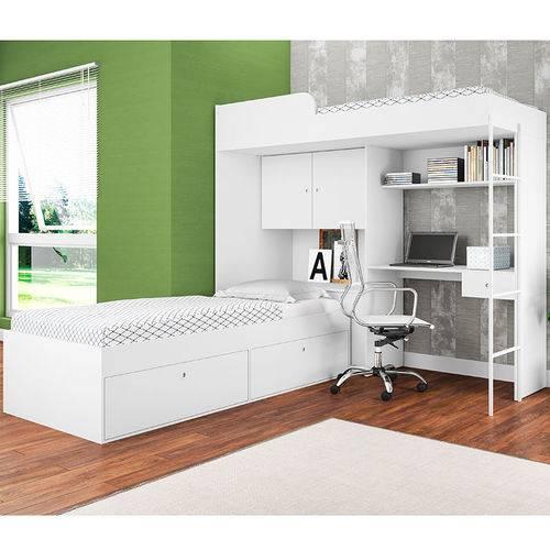 Cama Multifuncional Luiza Cm9080 - Art In Móveis - Branco