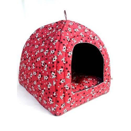 Cama Pet Toca Cabana Iglu Caminha para Cachorro Gato Binnopet Dogs Rosa P