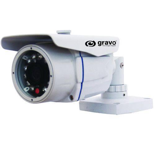 Câmera Bullet com Ir Day&night de 35 M, Lente Fixa 6mm Gdi-7001/35lf Branca – Gravo