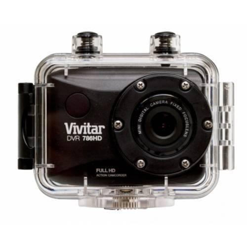 Câmera Filmadora de Ação Full Hd com Caixa Estanque e Acessórios Dvr786hd Vivitar - Prata