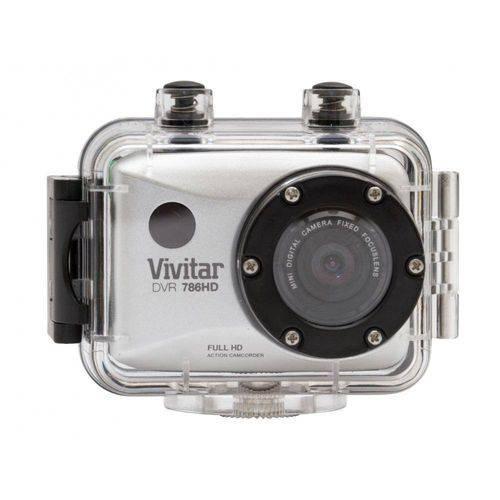 Câmera Filmadora de Ação Full HD Vivitar Prata, com Caixa Estanque e Acessórios - DVR786HD