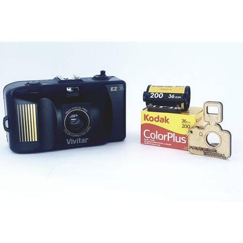 Câmera Fotográfica 35mm Antiga + Filme + Chaveiro