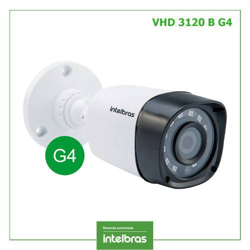 Camera Intelbras Multihd 720p Infra 20m Lente 2,6mm Vhd 3120 B G4