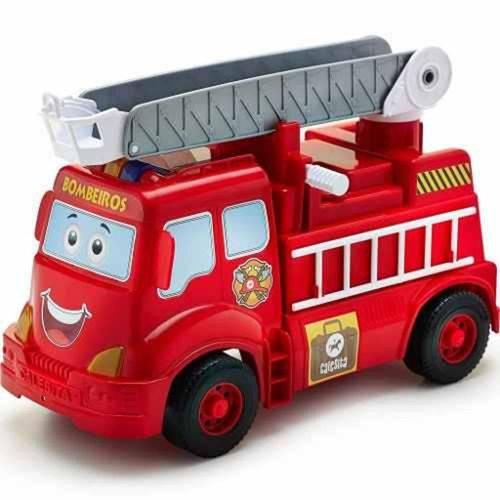Caminhão de Bombeiros com Luz e Som Ref. 408 Escadinha