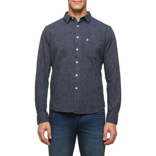 Camisa Addict 1 Bolso Rustic Azul Marinho G