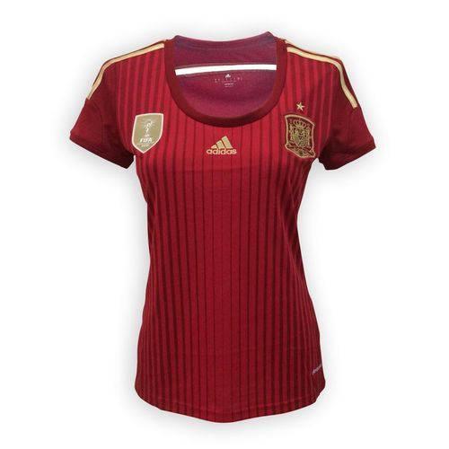 Camisa Adidas Seleção Espanha I Feminina Vermelha