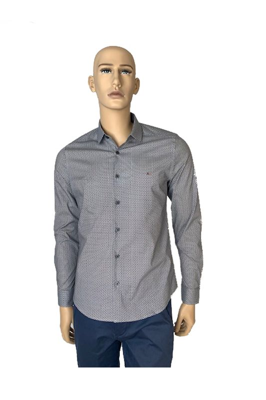 Camisa Aramis MW Super Slim Hive Azul Tam. P