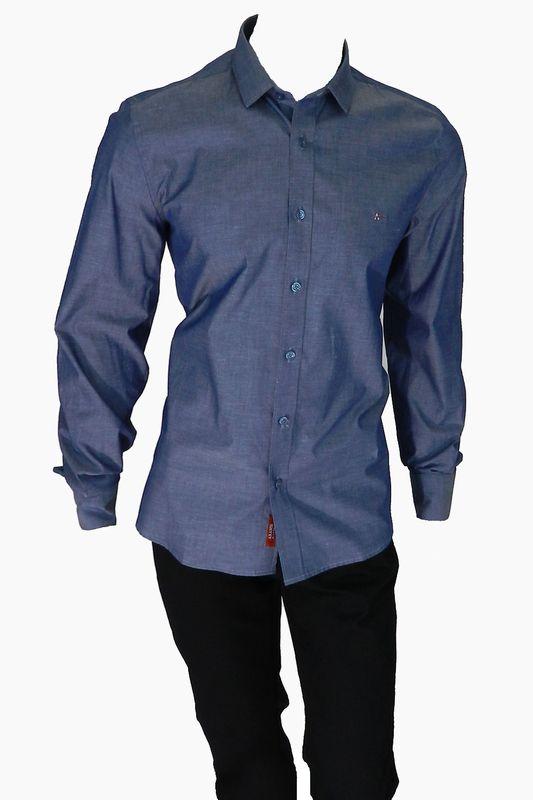 Camisa Aramis Super Slim MW Azul Escuro Tam. GG