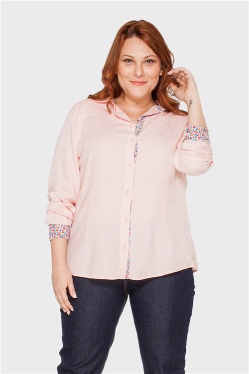 Camisa Bia Vista Floral Plus Size ROSA-48