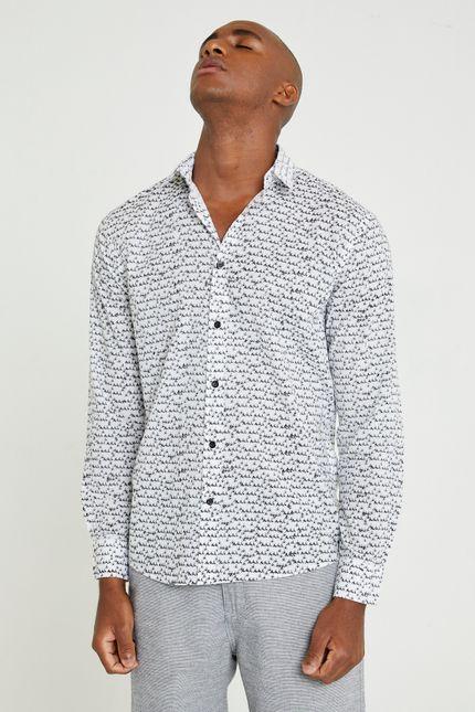 Camisa Bik Manga Longa M - Branco