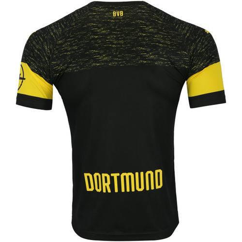 Camisa Borussia Dortmund Preto / Amarela Oficial Torcedor 2018/19 Tamanho G Original