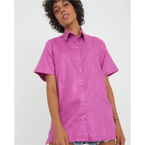 Camisa Brilho Roxo PP