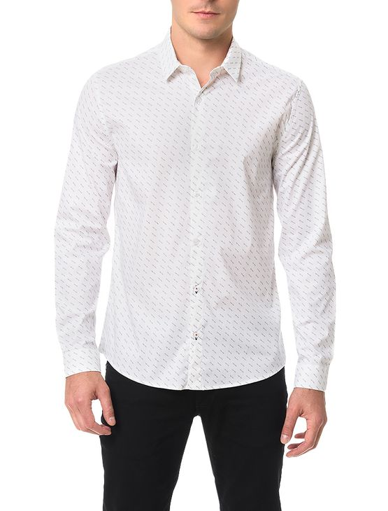 Camisa Calvin Klein Jeans Calvin All Over Branco - GG