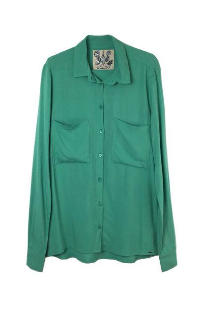 Camisa Colcci Manga Longa com Bolso Frontal - Verde