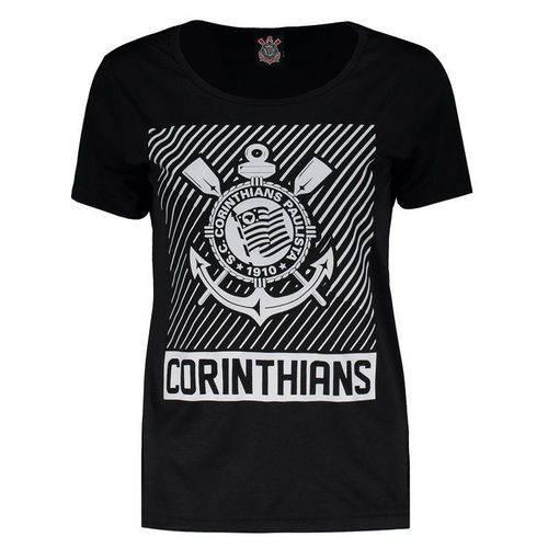 Camisa Corinthians Force Feminina Preta