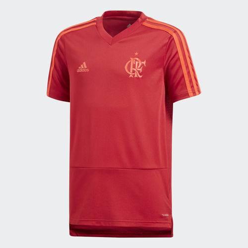 Camisa de Treino Flamengo Adidas 2018 2019 Infantil Juvenil Vermelha CF2532