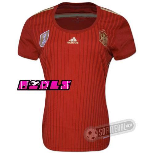 Camisa Espanha - Modelo I - Feminina