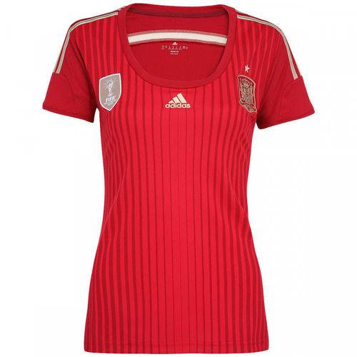 Camisa Feminina Espanha Adidas 2014