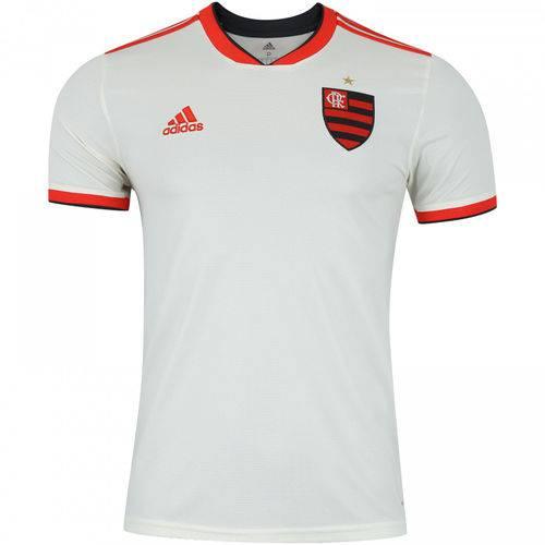 Camisa Flamengo II 2018 Torcedor Adidas Masculina - Off White e Vermelho