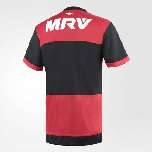 Camisa Flamengo Oficial Jogo 1 2017 Preto+Vermelho GG