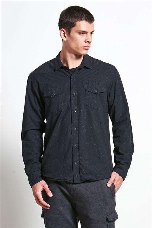 Camisa Forrada Botone Preto G