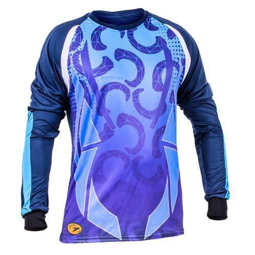 Camisa Goleiro Sublimax Maier ML Poker - Azul Celeste/Marinho - GG