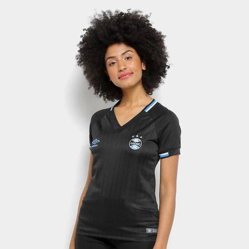 Camisa Grêmio Iii 2018 S/n° Torcedor Umbro Feminina