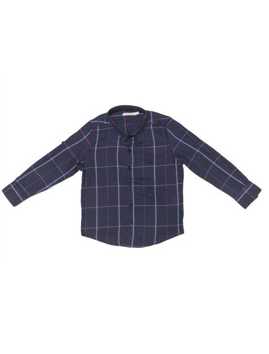 Camisa Infantil Calvin Klein Jeans Logo Bordado Marinho - 2