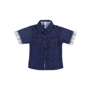Camisa Infantil para Bebê Menino - Azul M