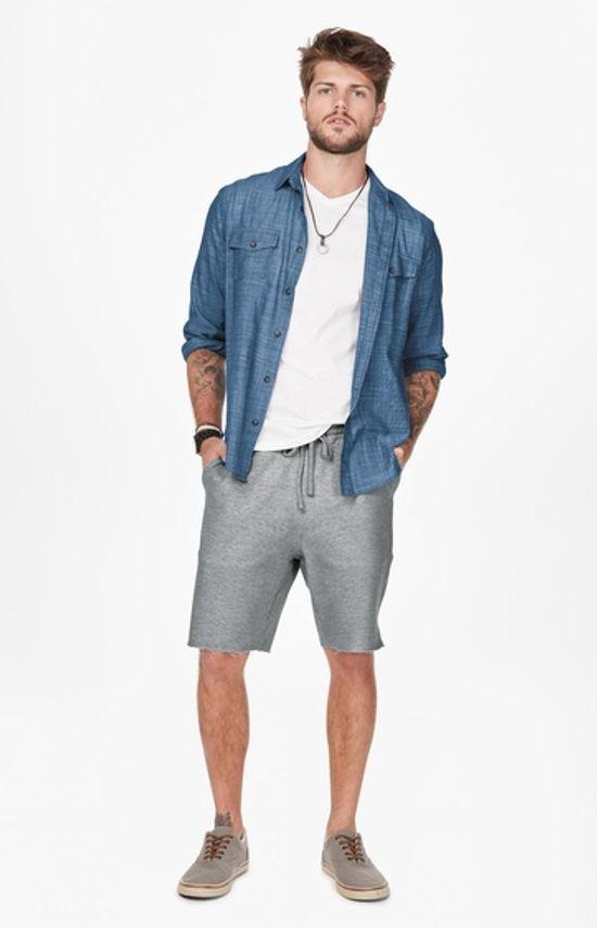 Camisa Jeans Bolsos Enfim Azul - M