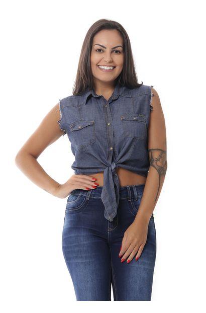 Camisa Jeans Feminina - 252546 P