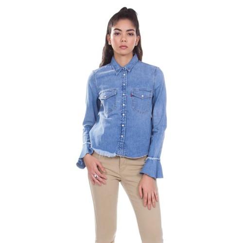 Camisa Jeans Levis Celia Ruffle - L