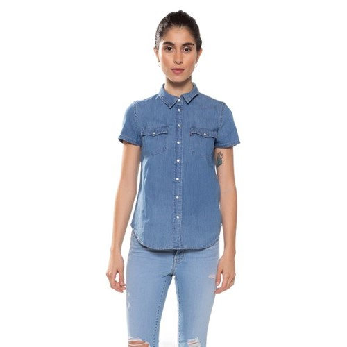Camisa Jeans Levis Short Sleeve Larissa Western - XS