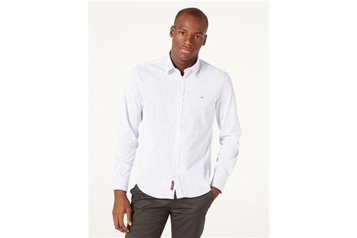 Camisa Jeanswear Slim Ana Ruga Print - Branco - M