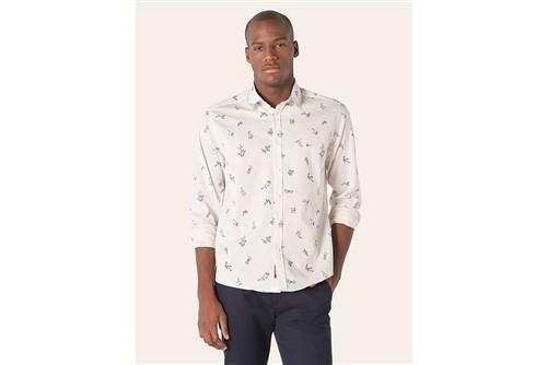Camisa Jeanswear Slim Ramos Maquineta - Areia - P