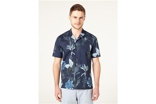 Camisa Jeanswear Slim Resort Floral - Marinho - M