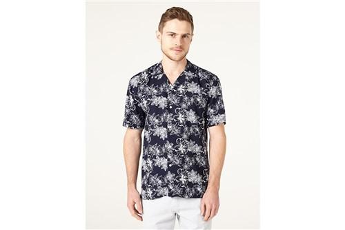Camisa Jeanswear Slim Resort Navy - Marinho - GG