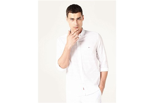 Camisa Jeanswear Slim Voile - Branco - XGG