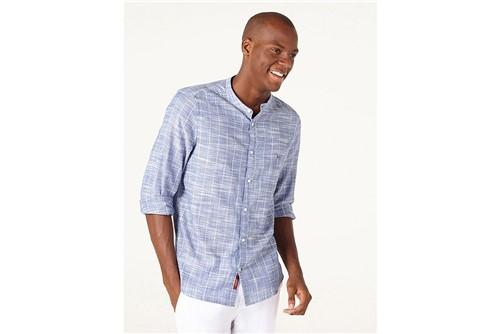 Camisa Jeanswear Super Slim Hame Listra - Azul - M
