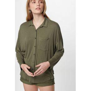 Camisa Malha Nó Verde Militar - P