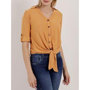 Camisa Manga 3/4 Feminina Autentique Amarelo G