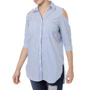 Camisa Manga 3/4 Feminina Autentique Azul M