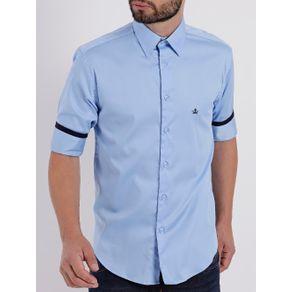 Camisa Manga 3/4 Masculina Azul M