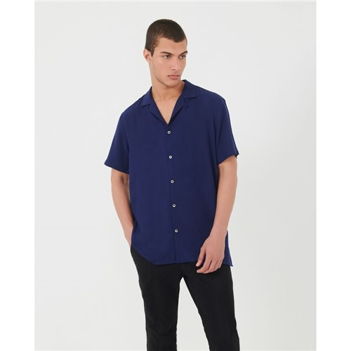 Camisa Manga Curta Azul Marinho P