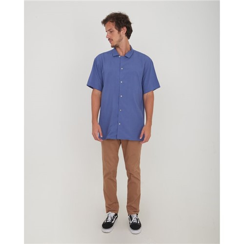 Camisa Manga Curta Azul P