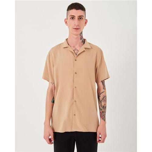 Camisa Manga Curta Bege P