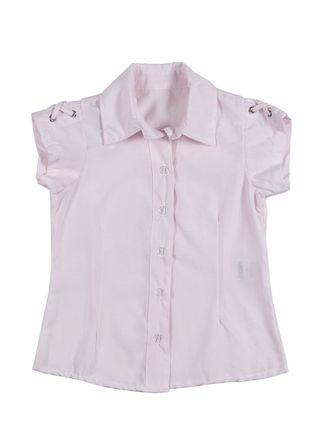 Camisa Manga Curta Infantil para Menina - Rosa